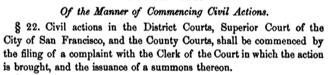 Section 22 of the California code from 1851.