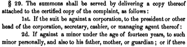 An excerpt from the 1851 California code of civil procedure.