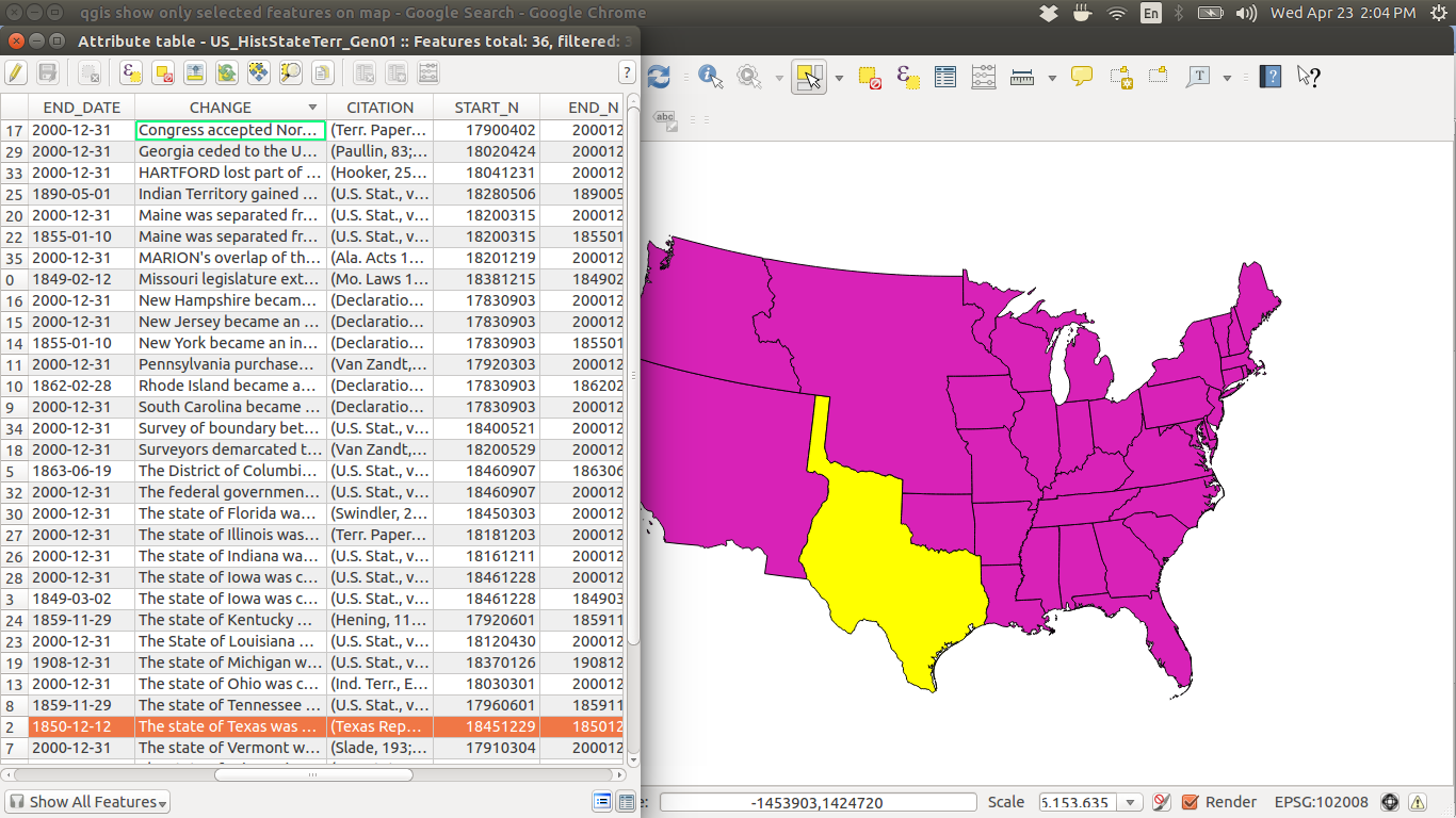 Resources For Mapping US Boundaries Over Time The Backward Glance - Us map shapefile