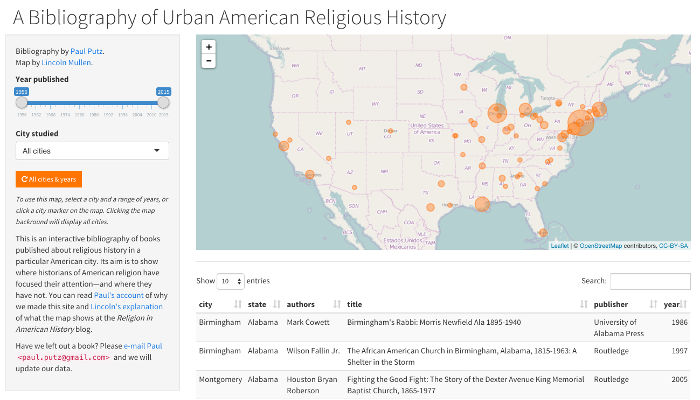 Bibliography of Urban American Religious History thumbnail